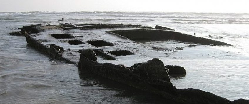 Ship Wreckage washes up to Shore